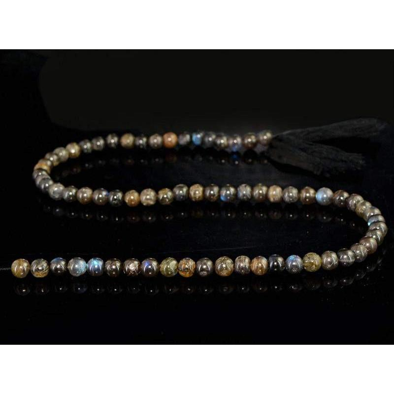 gemsmore:Natural Untreated Labradorite Beads Strand