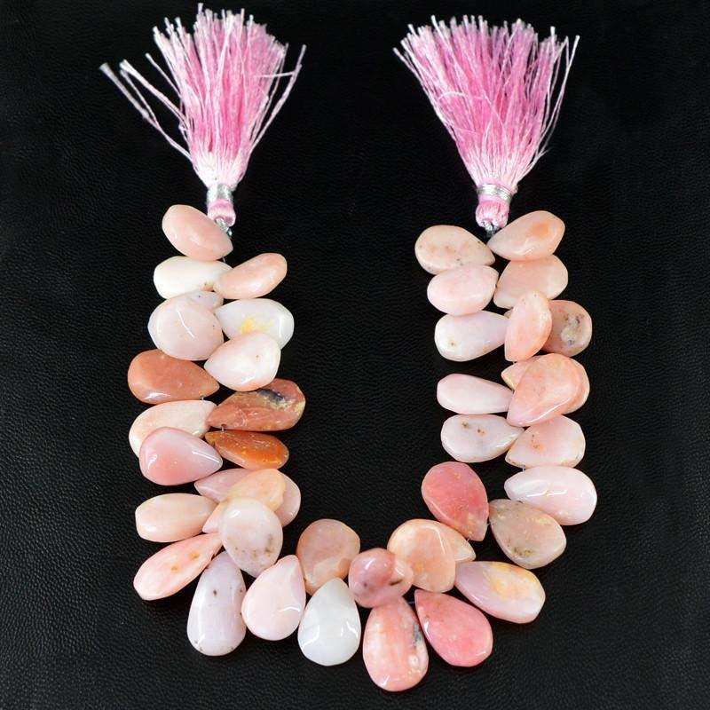 gemsmore:Natural Untreated Pink Australian Opal Beads Strand