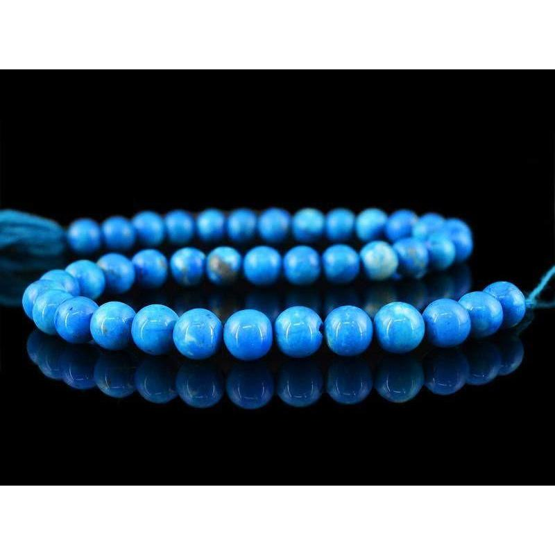 gemsmore:Natural Untreated Turquoise Round Shape Beads Strand