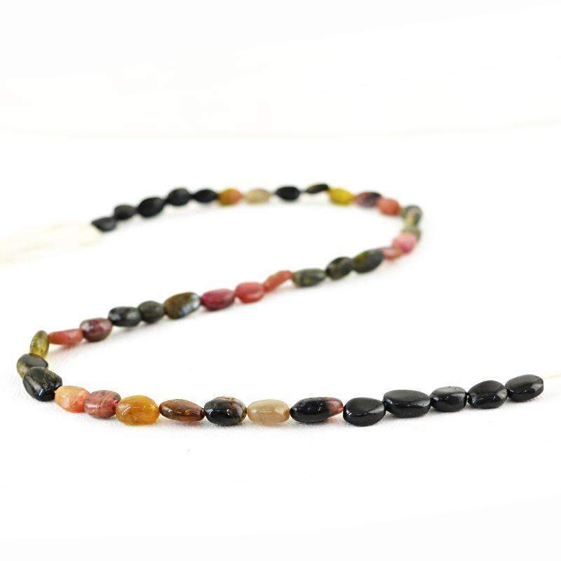 gemsmore:Natural Watermelon Tourmaline Drilled Beads Strand