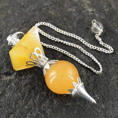 gemsmore:Natural Yellow Aventurine AAA Attractive Pendulum