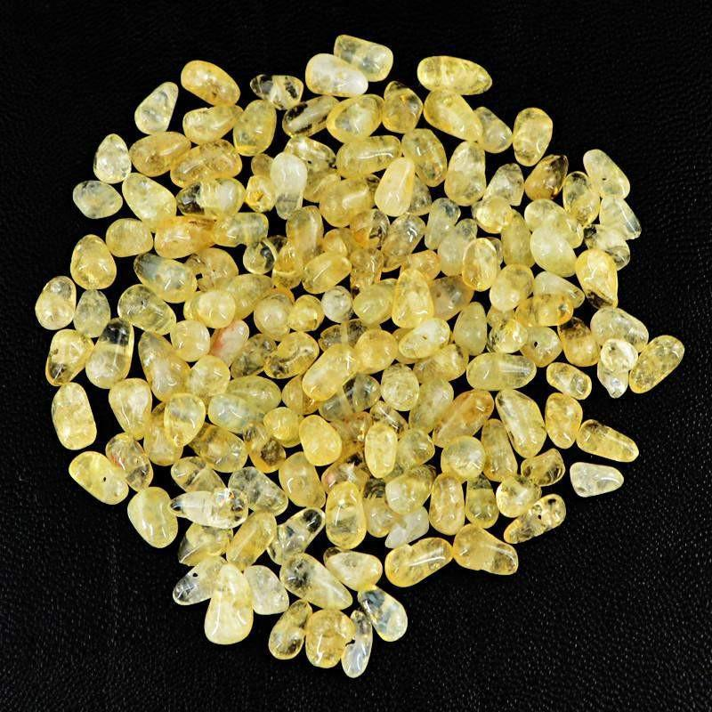gemsmore:Natural Yellow Citrine Drilled Beads Lot