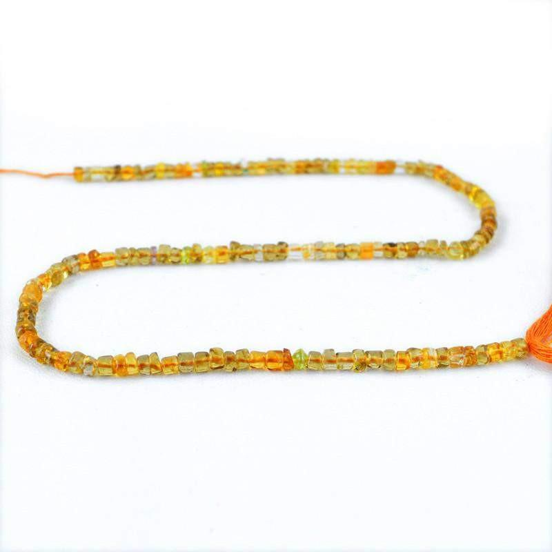 gemsmore:Natural Yellow Citrine Round Beads Strand