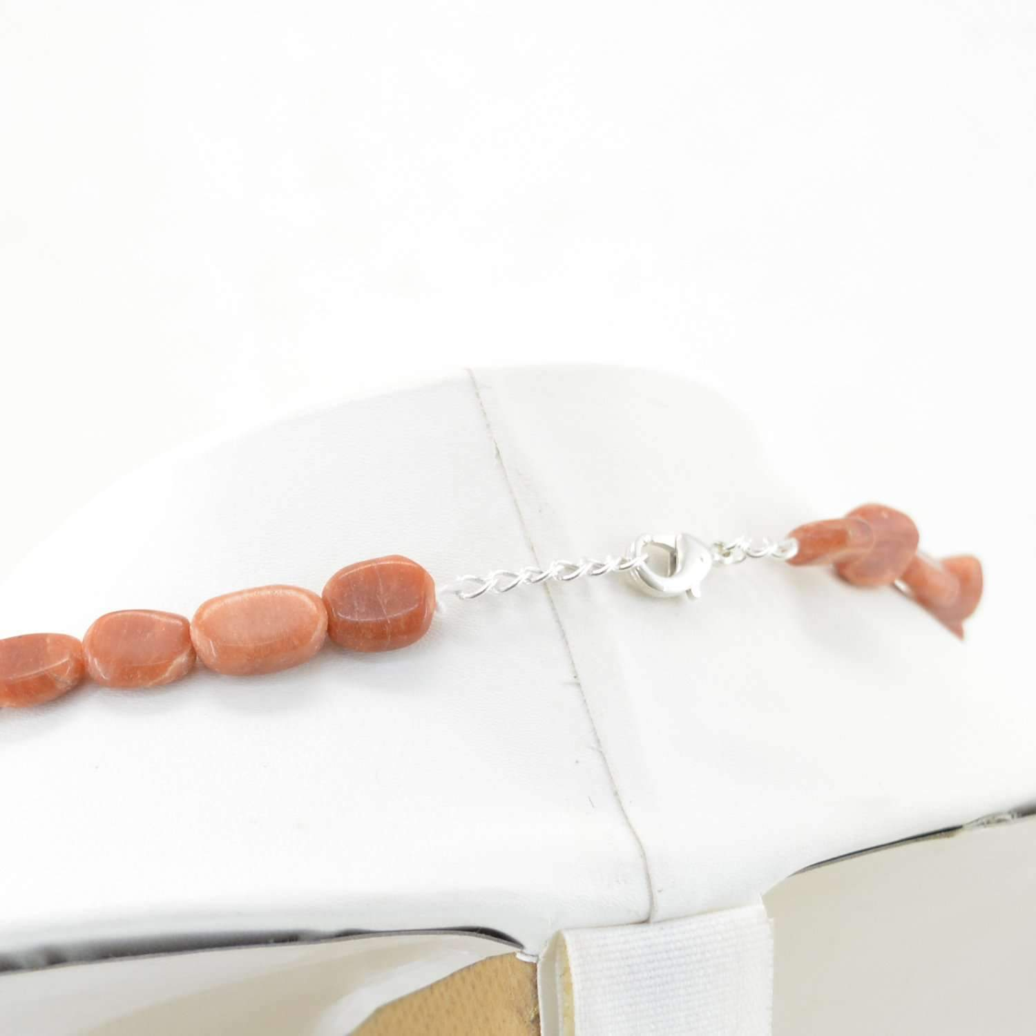 gemsmore:Oval Shape Jasper Necklace Natural Untreated Beads