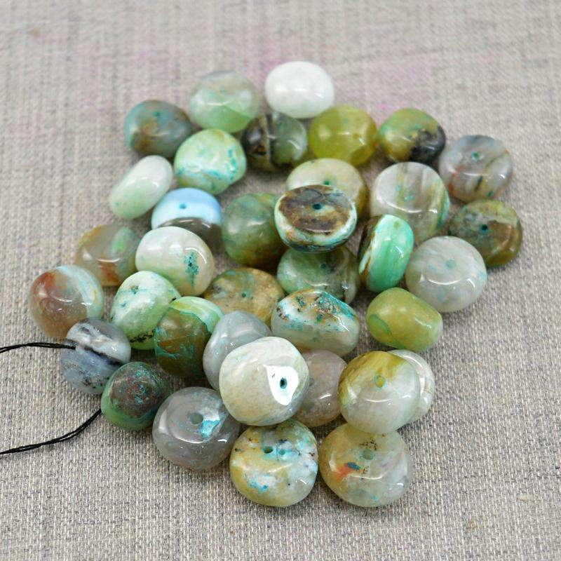 gemsmore:Peruvian Opal Beads Lot Natural Drilled Round Shape