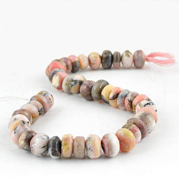 gemsmore:Pink Australian Opal Round Shape Beads Strand Natural Drilled