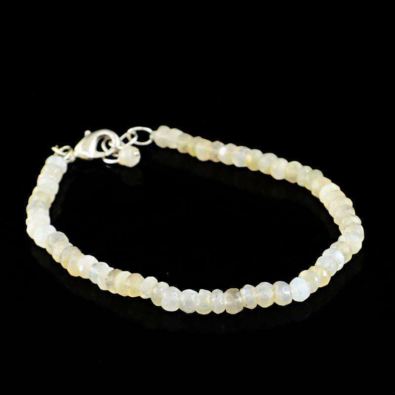 gemsmore:Round Shape Agate Bracelet - Natural Faceted Beads