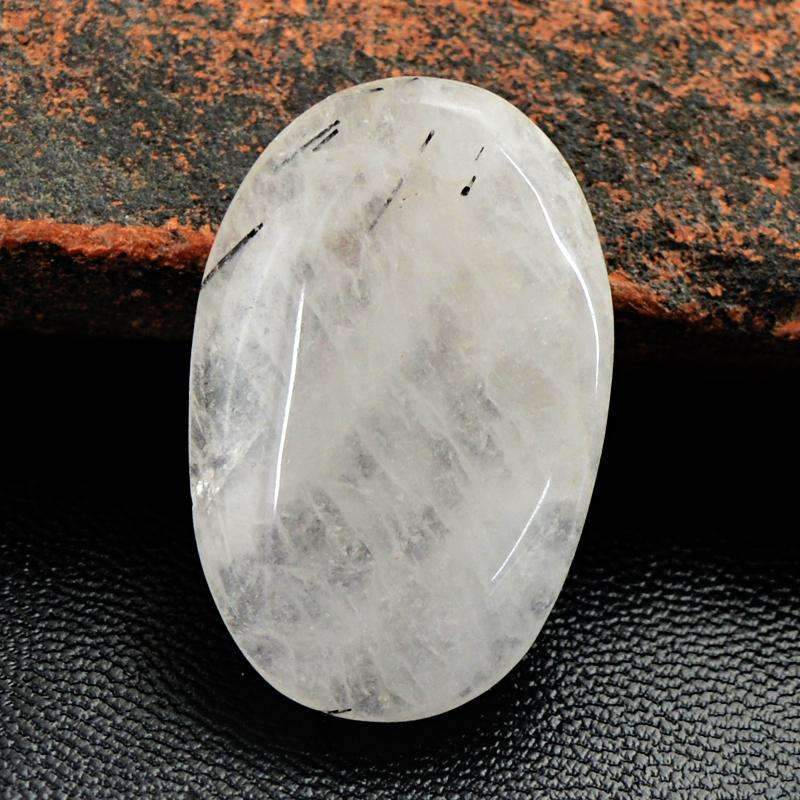 gemsmore:Rutile Quartz Gemstone Natural Oval Shape - Untreated Loose