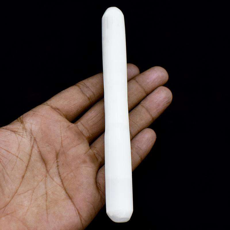 gemsmore:Selenite Hand Carved Healing Massage Wand