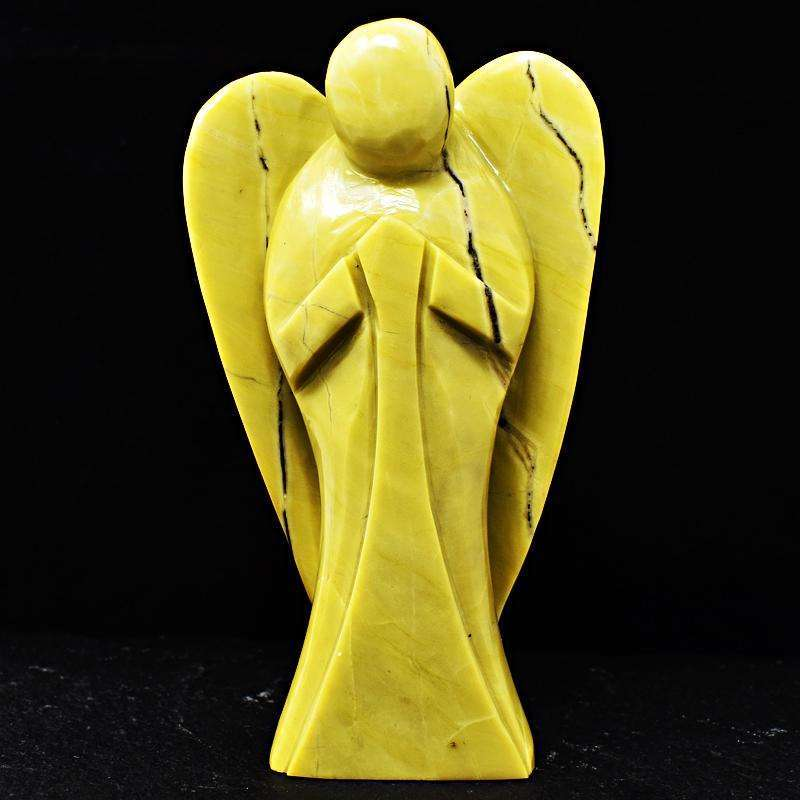 gemsmore:Serpentine Hand Carved Crystal Big Healing Angel