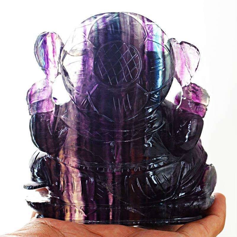 gemsmore:SOLD OUT : Multicolor Fluorite Lord Ganesha Idol