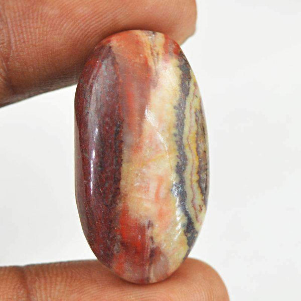 gemsmore:Untreated Crazy Lace Agate Gemstone Loose Oval Shape