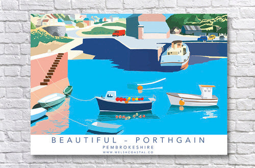 Beautiful Portgain Retro Style Posters