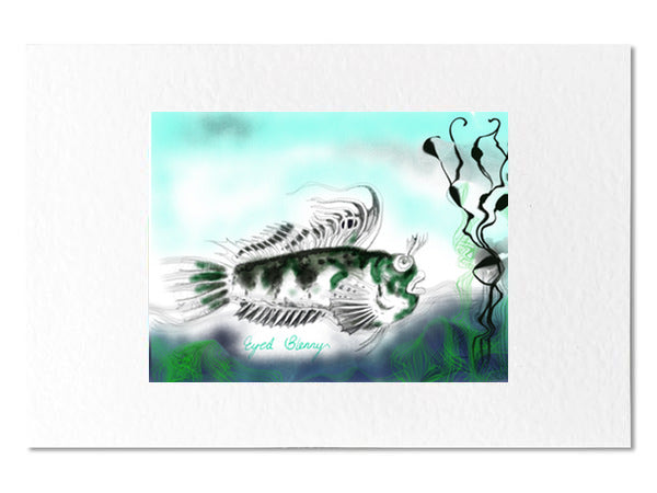 "One Eyed Blenny 7 x 5"" Card"
