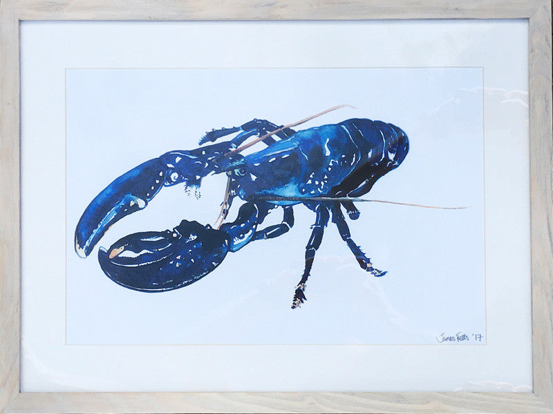 Blue Lobster Framed A3 Print