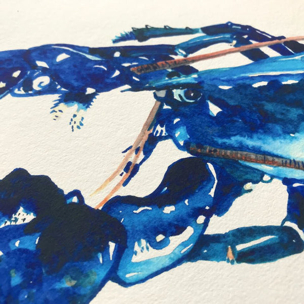 Blue Lobster Giclee Fine Art Print