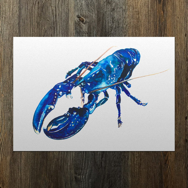 Blue Lobster A3 Giclee Fine Art Print