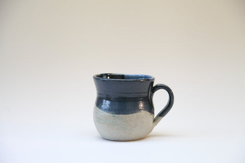 Blue Top Glazed Mug by Fishguard Pottery