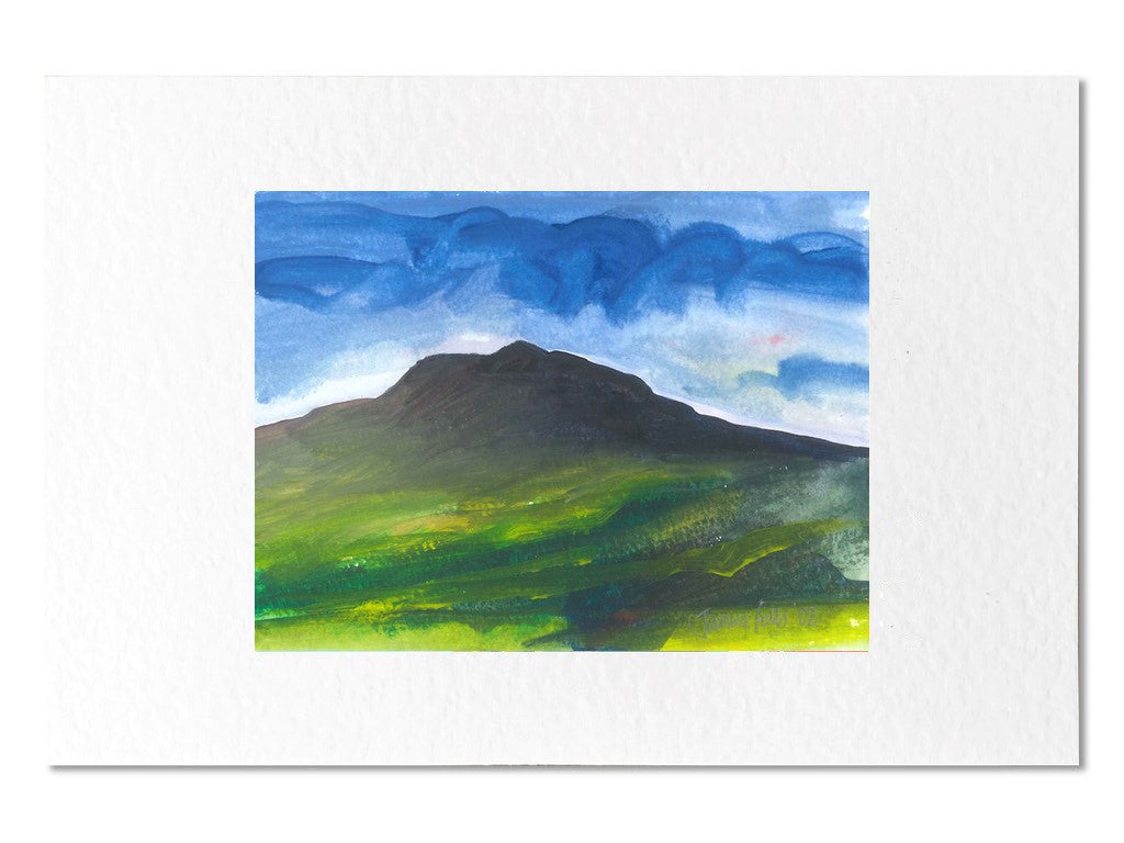 Carningli mountain newport pembrokeshire framed greeting card