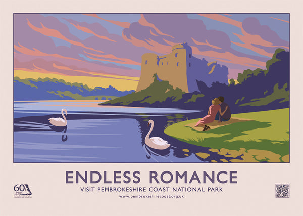 Endless Romance - Carew Castle - English Landscape Poster