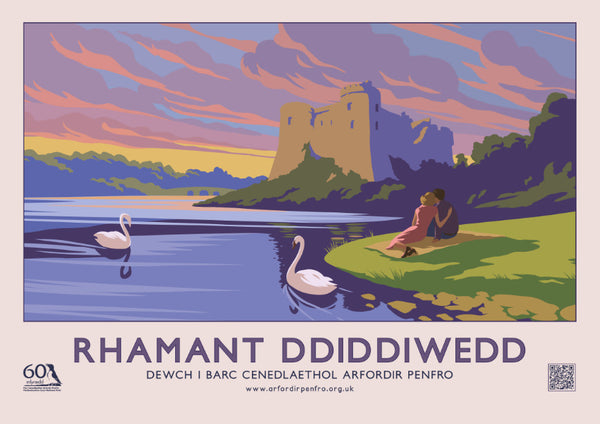 Endless Romance - Carew Castle - Welsh Landscape Poster