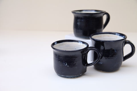Fishguard Pottery Hand thrown Stoneware Glazed Ceramic Mugs.