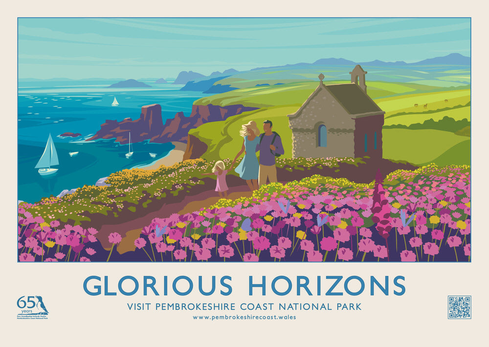 Glorious Horizons - St. Nons Poster - Pembrokeshire