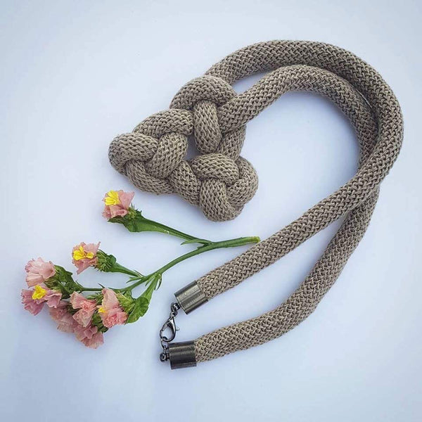Welsh Celtic Square Knot Handmade Soft macrame necklace