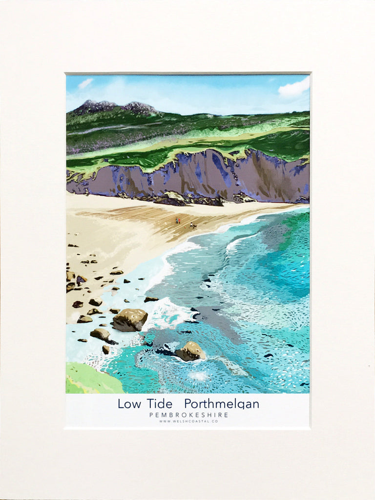 Porthmelgan Low Tide A3 Fine Art Print