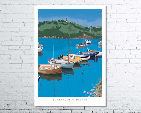 Lower town Fishguard fine art print