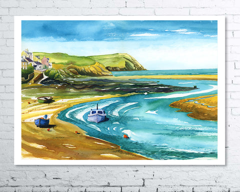 Newport Low Tide - A3 Giclee Print