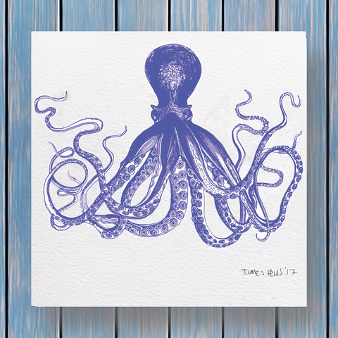 Octavious Octopus Fells Collection Greeting Card