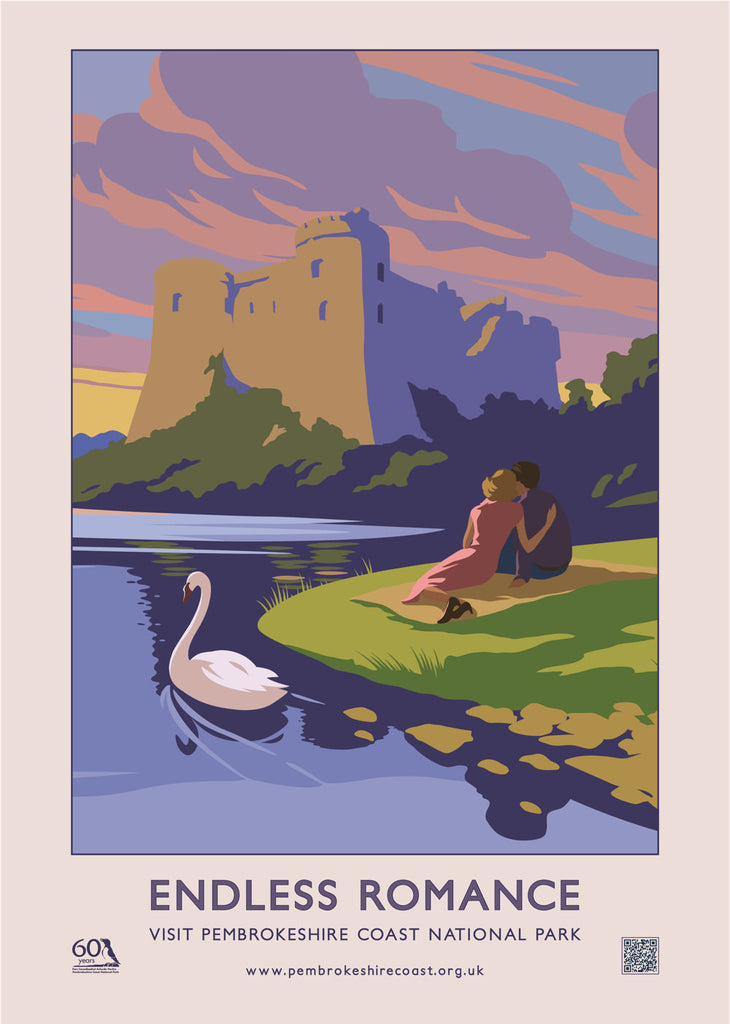 Pembrokeshire Coast National Park Endless Romance Poster