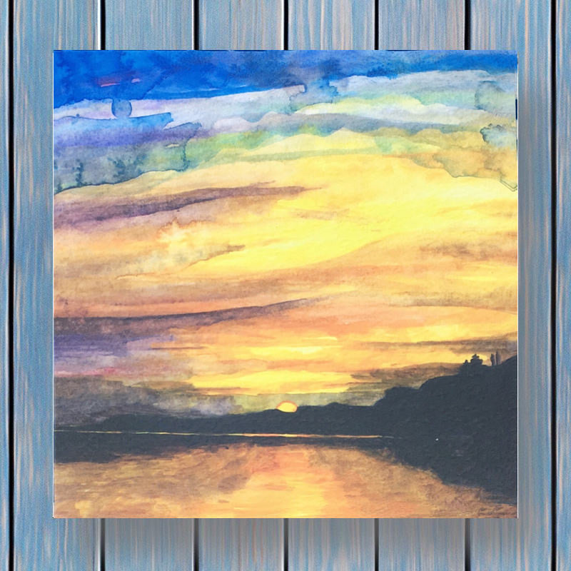 Pembrokeshire Sunset Fells Collection Greeting Card