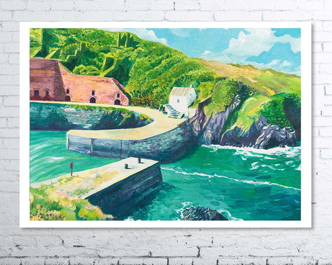 Porthgain Harbour - A3 Giclee Print