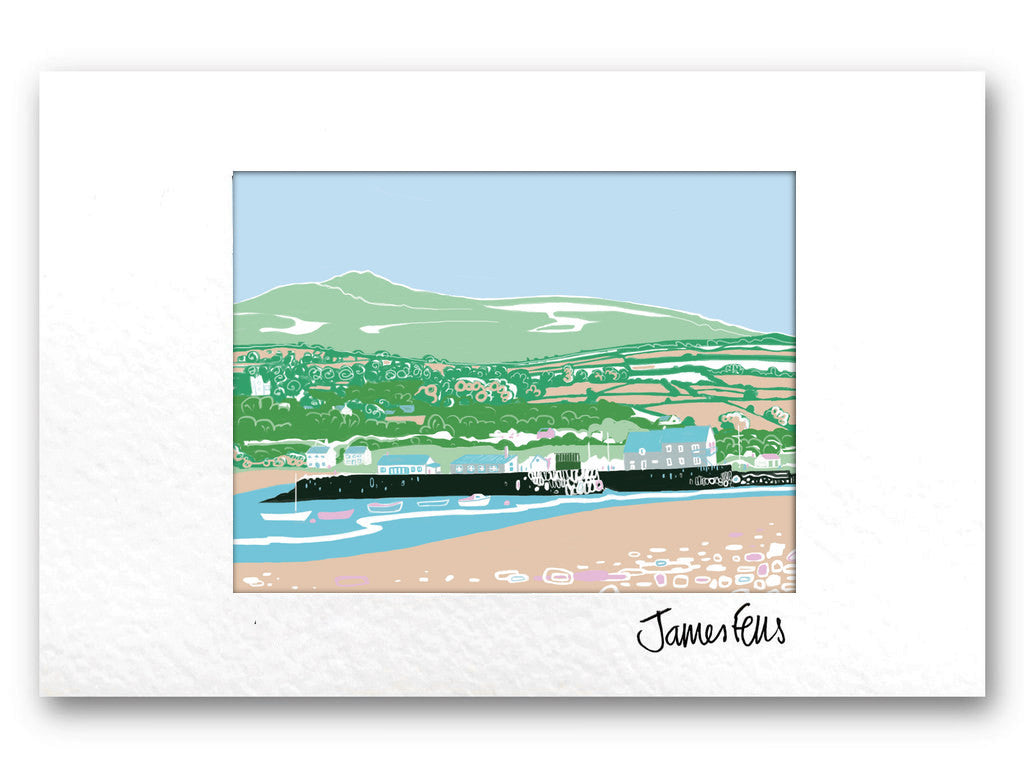 Parrog Bach Newport Pembrokeshire Mounted Greeting card