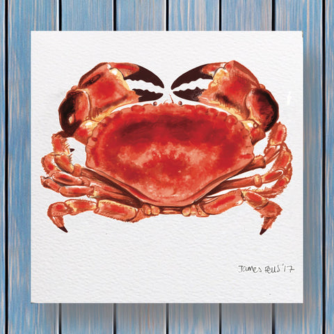 Red Crab Fells Collection Greeting Card