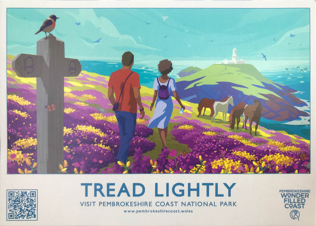 Tread Lightly, Pembrokeshire Coast National Park Landscape Poster