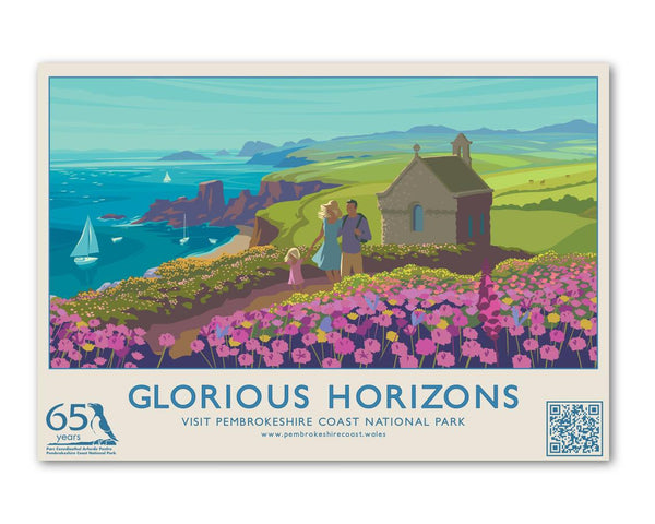 Glorious Horizons - St Nons Postcard
