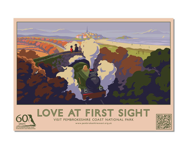 Love At First Sight - Penally Postcard