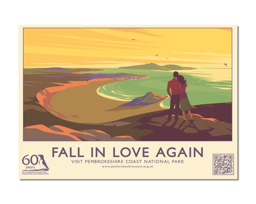 Fall In Love Again At Whitesands Bay Postcard English