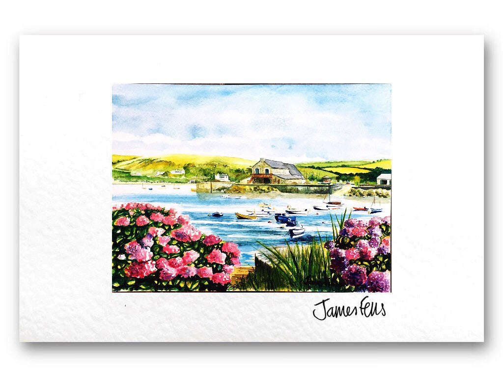 Newport Parrog - Fells Collection Mounted Greeting Card