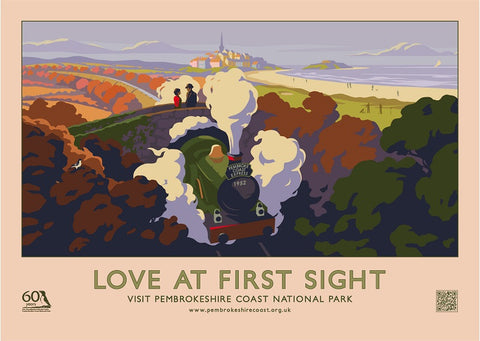 Love At First Sight Pembrokeshire Coast Poster