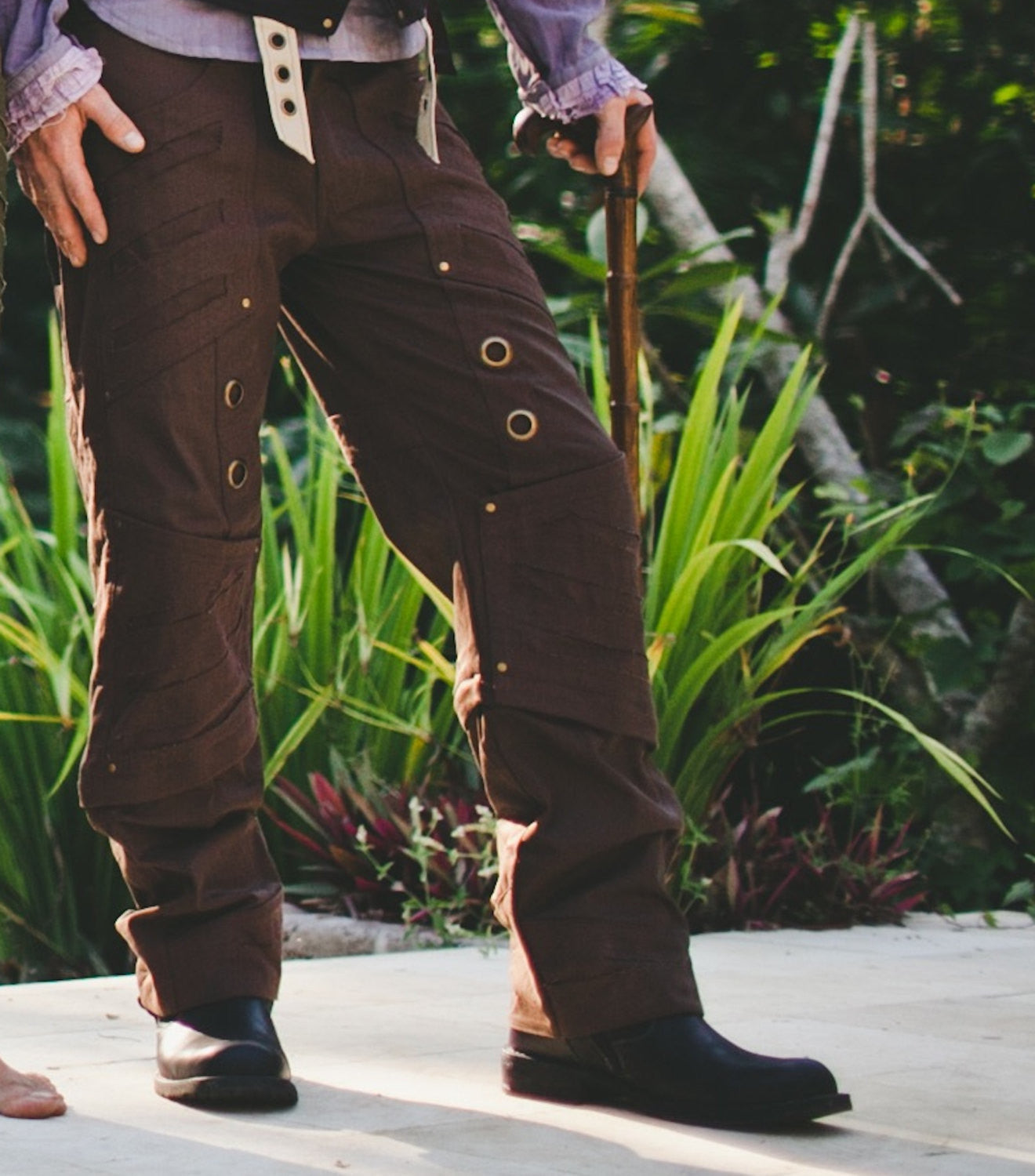 e1ba78824898a9 MENS STEAMPUNK Pants - Large, Brown Pants, Hipster, Burning Man, Festival  Clothing, Stretch Canvas, Gift for Boyfriend, Caballero Pants