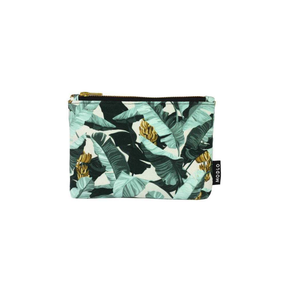 Musa: Make Up Bag - Spearmint & Ecru