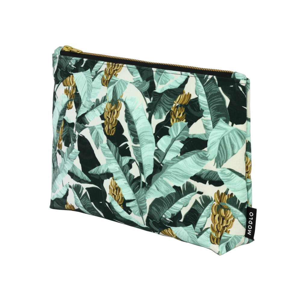 Musa: Large Wash Bag - Spearmint & Ecru