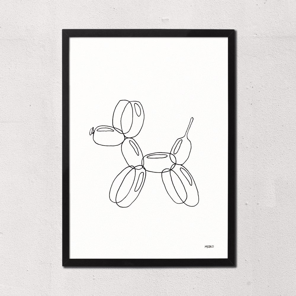 Balloon Animal Doodle - Dog: Art Print