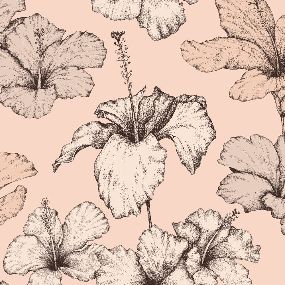 Hibiscus: Wallpaper - Nude