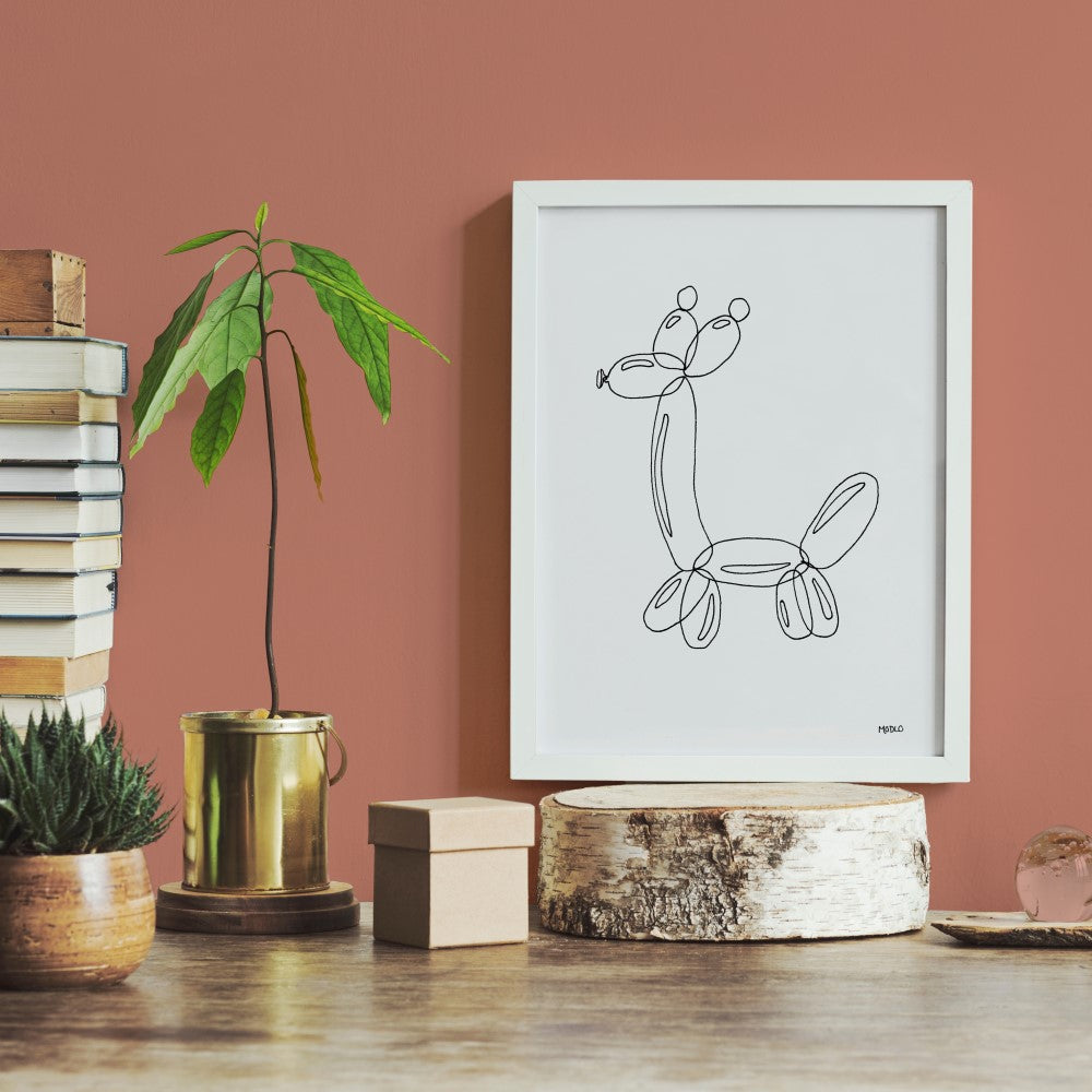 Balloon Animal Doodle - Giraffe: Art Print