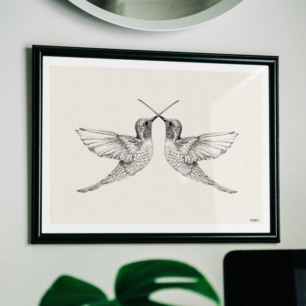 Hummingbirds: Art Print